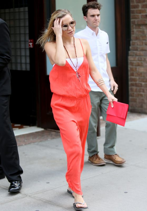 Kate Hudson Summer Style - Leaving her Hotel in NYC, July 2015