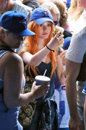Katherine McNamara at a Toronto Blue Jays in Toronto, July 2015