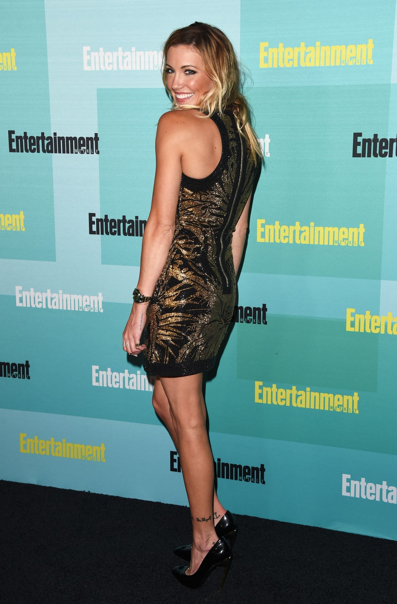 Katie Cassidy Entertainment Weekly Party At Comic Con In