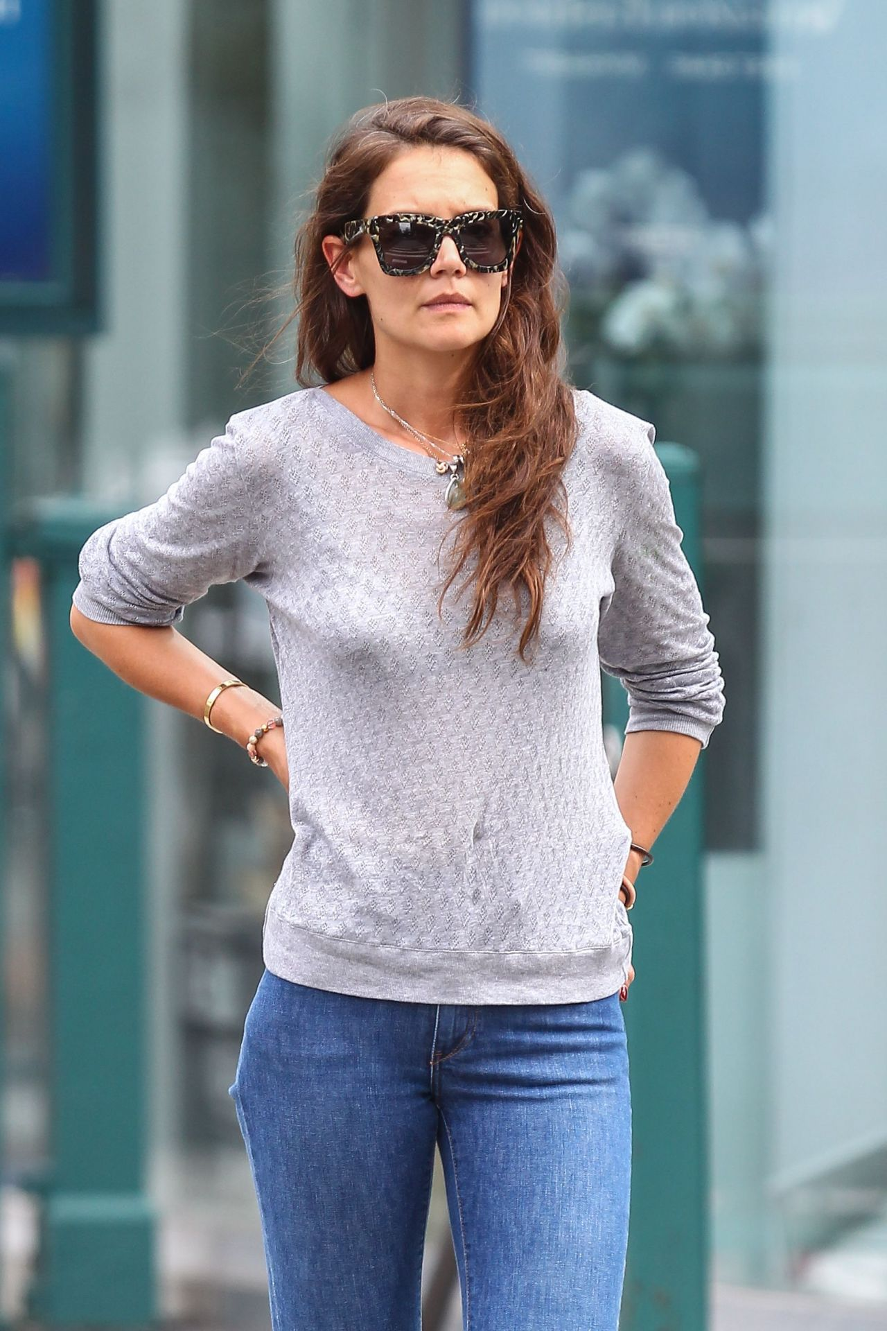 Katie Holmes Tight in Jeans - Out in NYC, July 2015 Katie Holmes