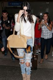 Kendall Jenner Airport Style - LAX in Los Angeles - July 2015