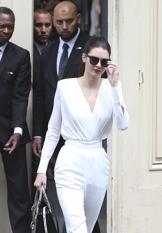 Kendall Jenner - Arriving + Leaving the Chanel Fashion Show in Paris, July 2015