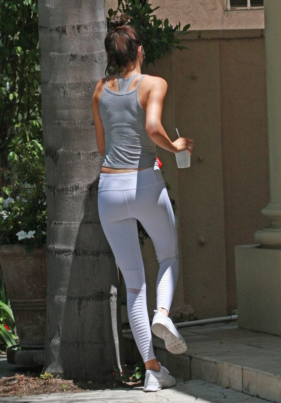Kendall Jenner Booty in Tights - Out in Beverly Hills, July 2015
