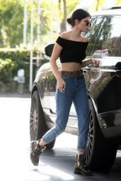 Kendall Jenner in Jeans - Getting Gas in Calabasas, July 2015