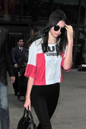 Kendall Jenner & Kris Jenner Airport Style - Heathrow Airport in London, July 2015