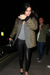 Kendall Jenner Night Out Style - Chiltern Firehouse in London - June 2015
