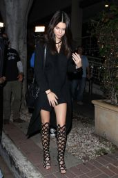 Kendall Jenner Night Out Style - Leaving Madeo in West Hollywood, July 2015