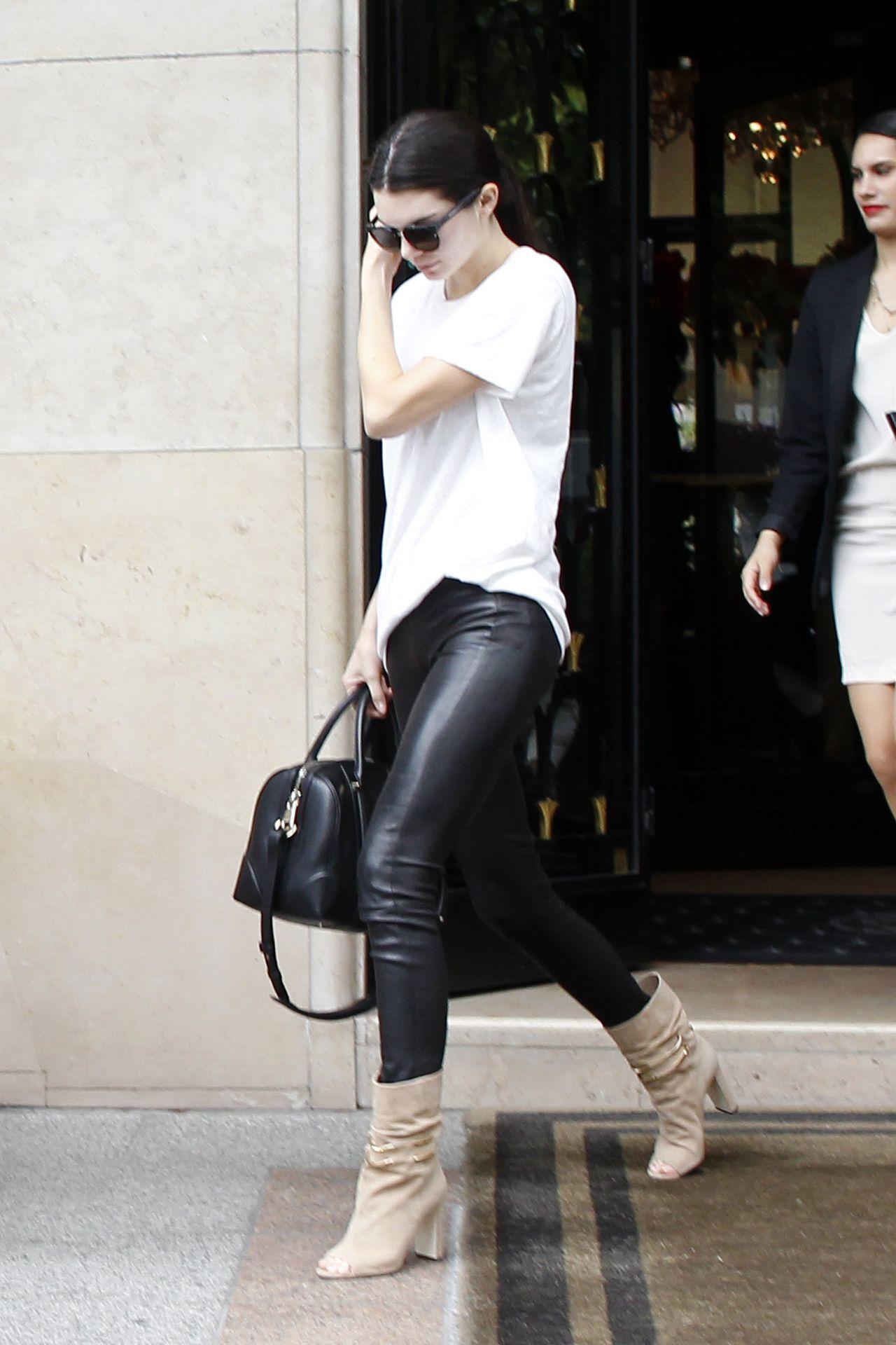 Kendall Jenner Street Fashion Paris July 2015