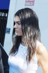 Kendall Jenner Summer Style - Running Errands in LA, July 2015