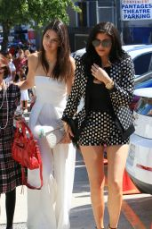 Kendall & Kylie Jenner + Kim & Kourtney Kardashian - Pantages Theatre in Hollywood, July 2015