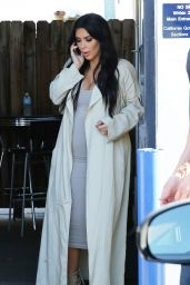 Kim Kardashian Street Fashion - at a Studio in Los Angeles - July 2015