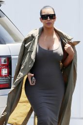 Kim Kardashian Street Fashion - Shopping in West Hollywood, July 2015