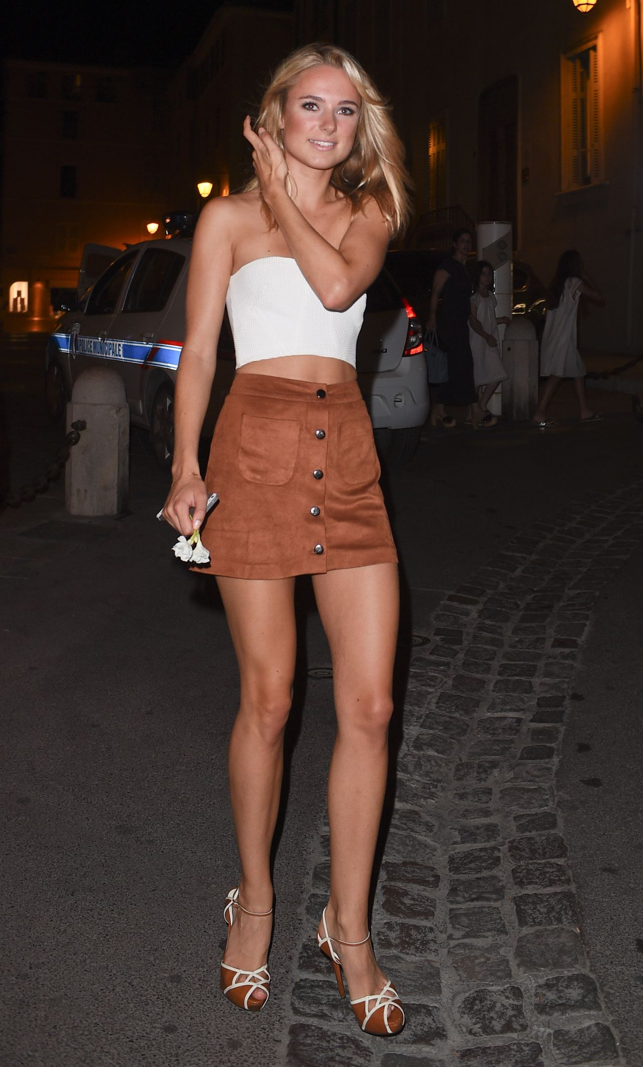 Kimberley Garner Night Out Style St Tropez July 2015