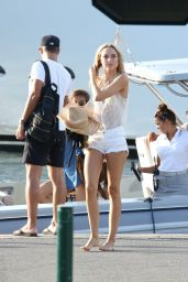 Kimberley Garner Summer Style - Out in Saint Tropez, July 2015