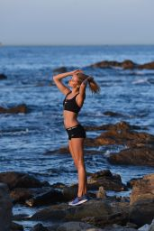 Kimberley Garner - Workout in St Tropez, July 2015