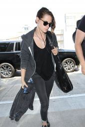 Kristen Stewart Airport Style - at LAX, July 2015