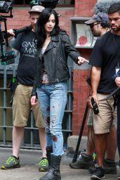 Krysten Ritter Booty in Bloody Jeans -