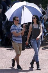 Krysten Ritter - Jessica Jones Set Photos, NYC, July 2015