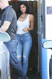 Kylie Jenner Hot in Tight Jeans - Out in Van Nuys, July 2015