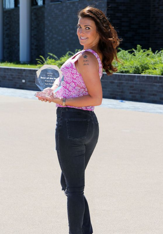 Kym Marsh - Rear of the Year Photocall in Manchester