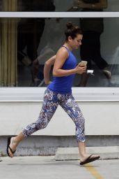 Lea Michele in tights - Heading to a Workout Session in New Orleans - July 2015