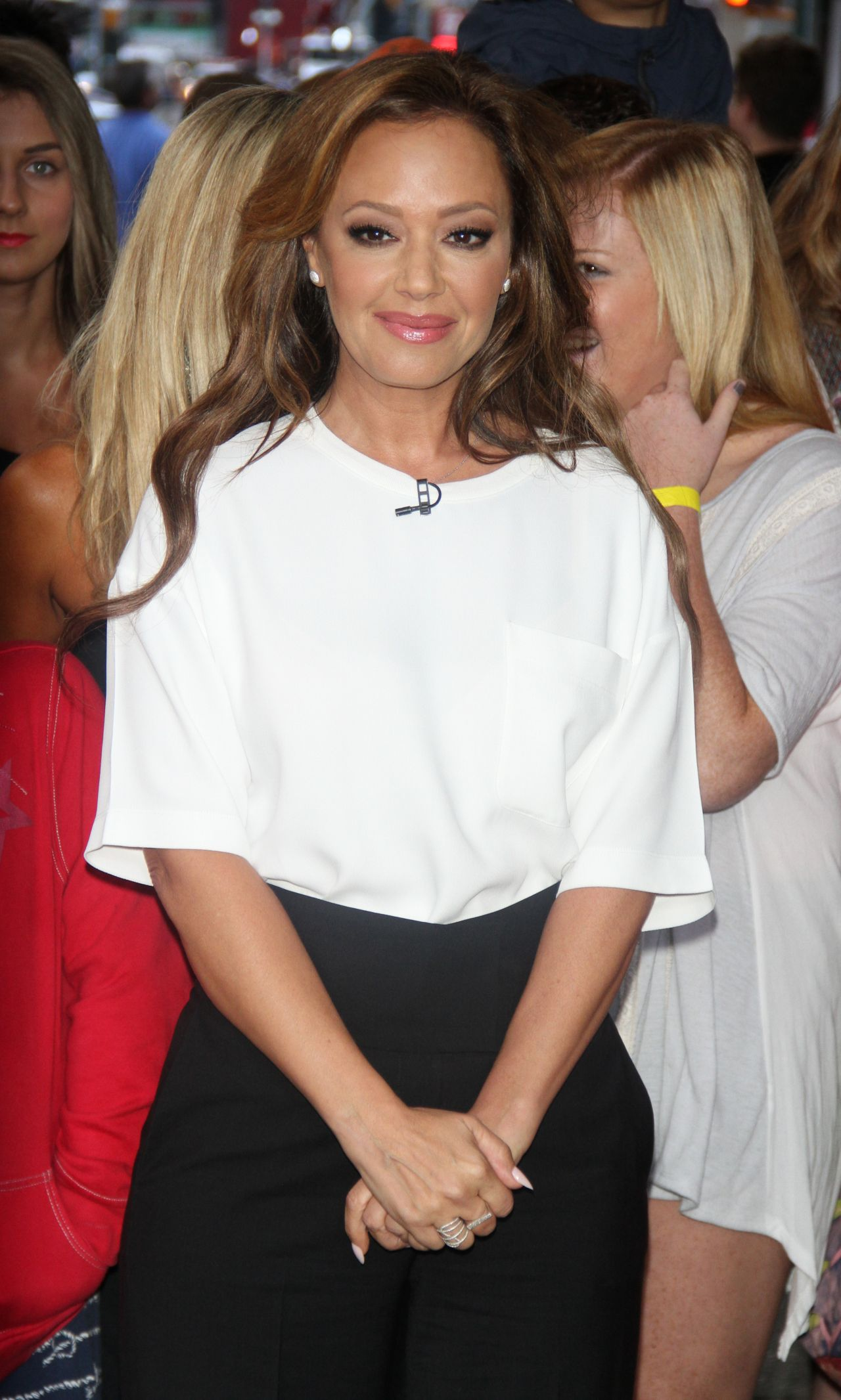 leah remini at good morning america in new york city  july