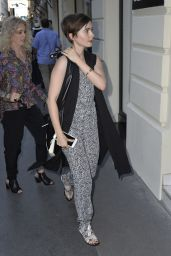 Lily Collins Casual Style - Out in Paris, July 2015