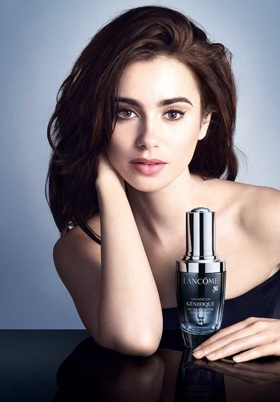 Lily Collins - Lancome Advanced Génifique Ad