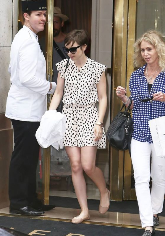 Lily Collins - Out in Paris, July 2015