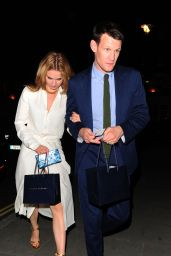 Lily James Night Out Style - Arrives at the Firehouse in London, June 2015