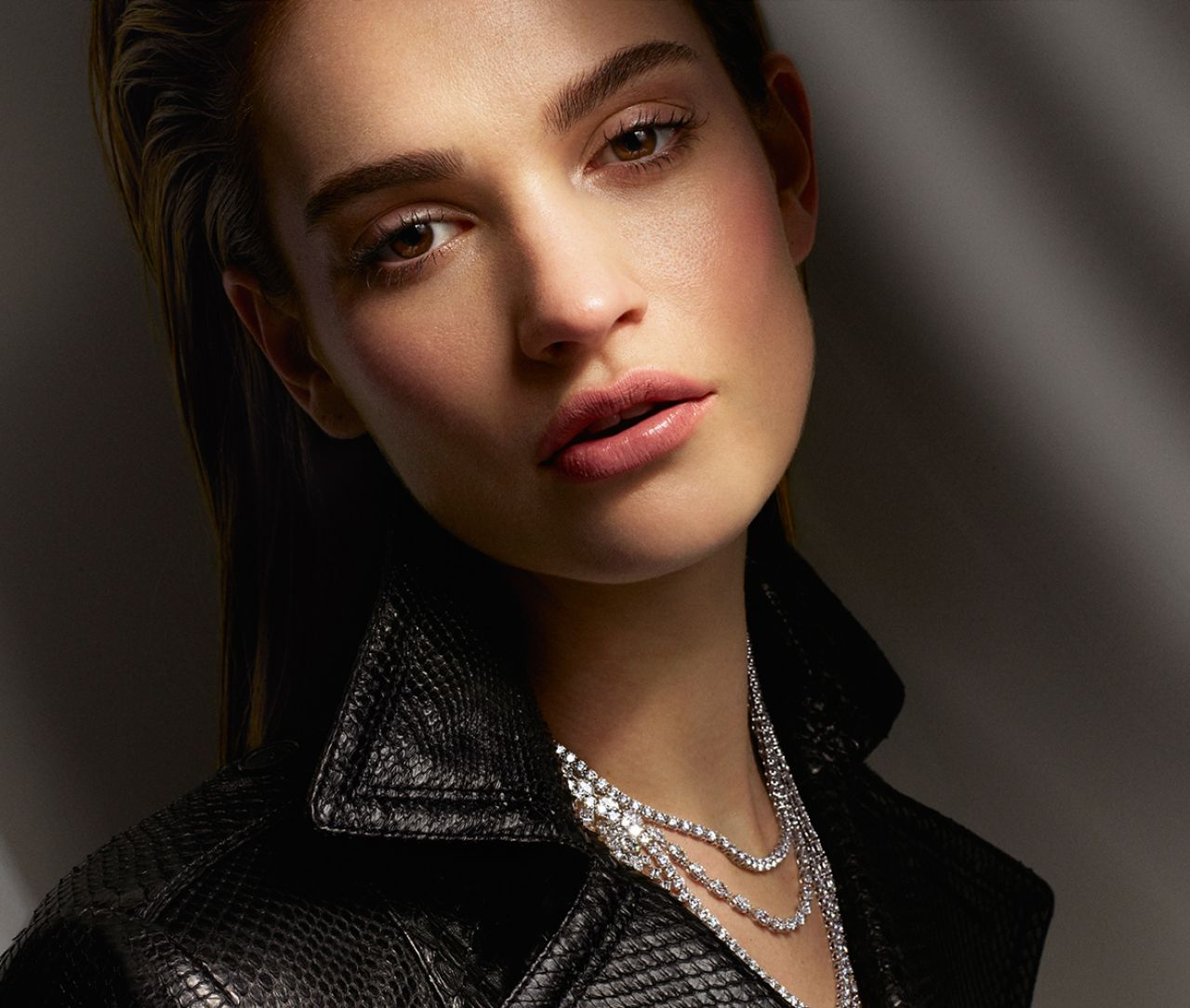 Lily James Vanity Fair On Jewelry Photoshoot August 2015