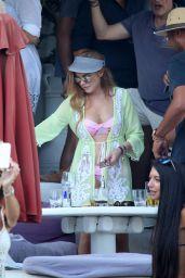 Lindsay Lohan Bikini Candids - Mykonos, July 2015