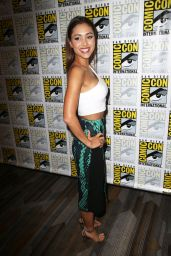 Lindsey Morgan - The 100 Press Line at Comic Con in San Diego