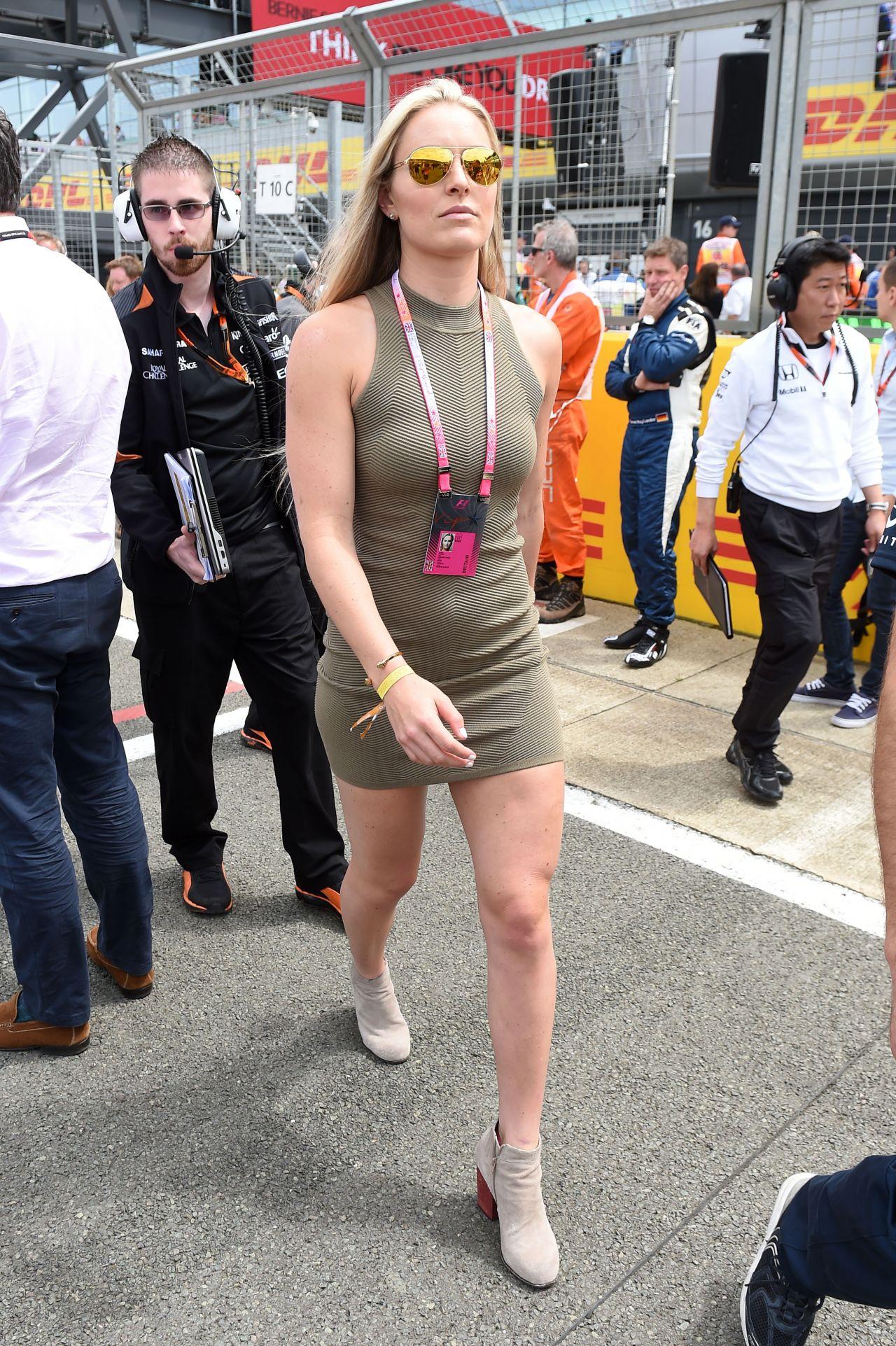 Lindsey Vonn In Mini Dress At The Formula One British
