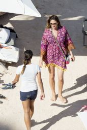 Lisa Snowdon - Beach in Ibiza, July 2015