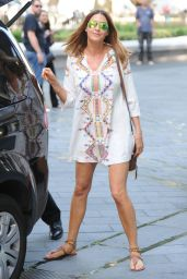 Lisa Snowdon - Outside Capital FM in London - July 2015