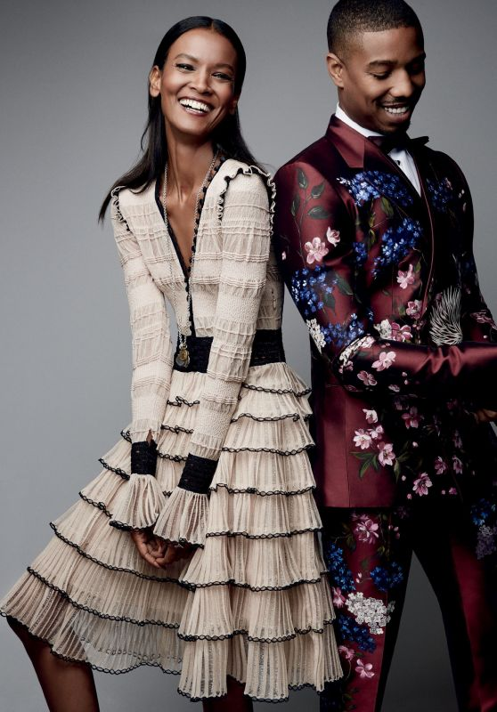 Liya Kebede & Michael B. Jordan - Photoshoot for Vogue August 2015
