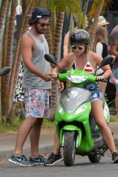Lucy Hale Bikini Pics - at a Beach in Hawaii, July 2015