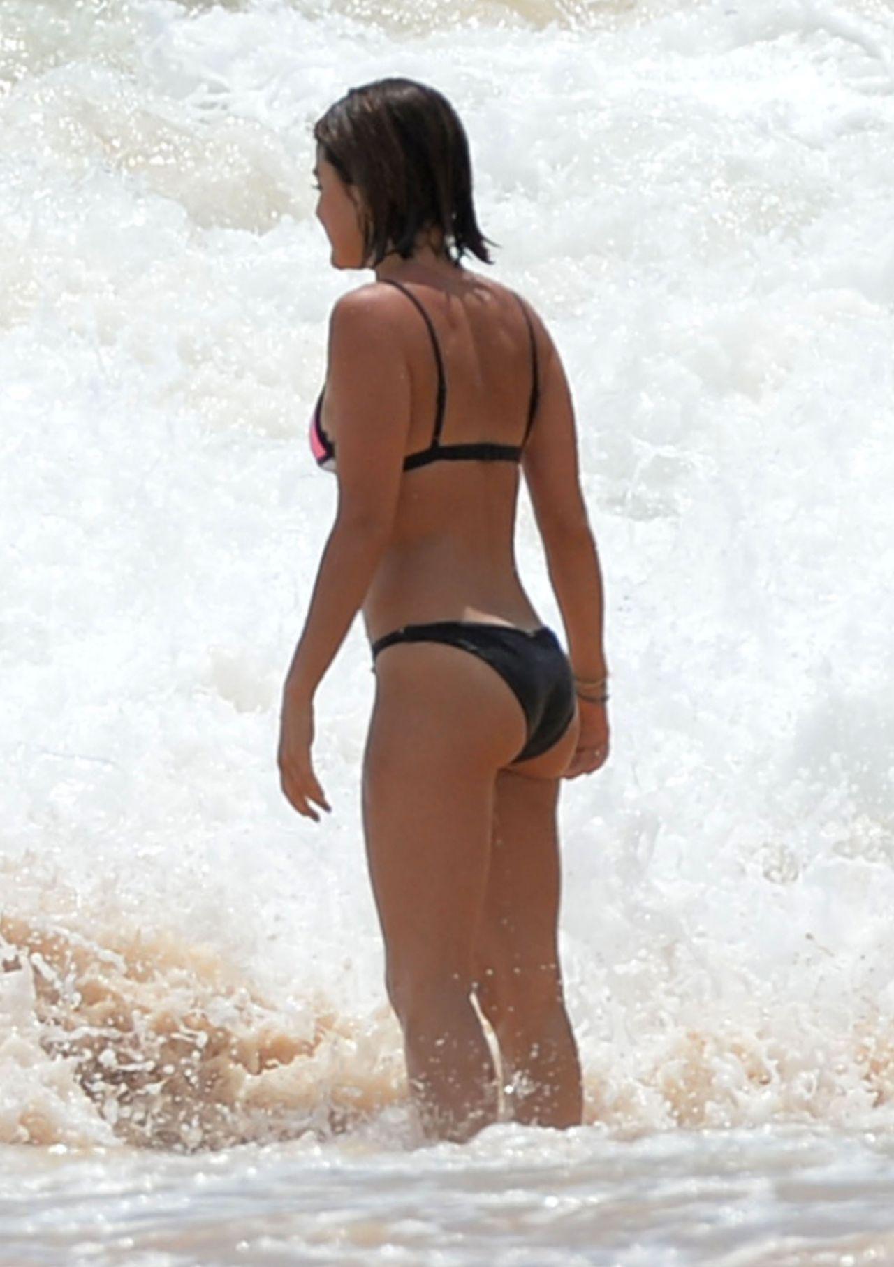 Lucy Hale Bikini Pics At A Beach In Hawaii July 2015