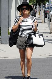 Lucy Hale Summer Style - Shopping in West Hollywood, July 2015