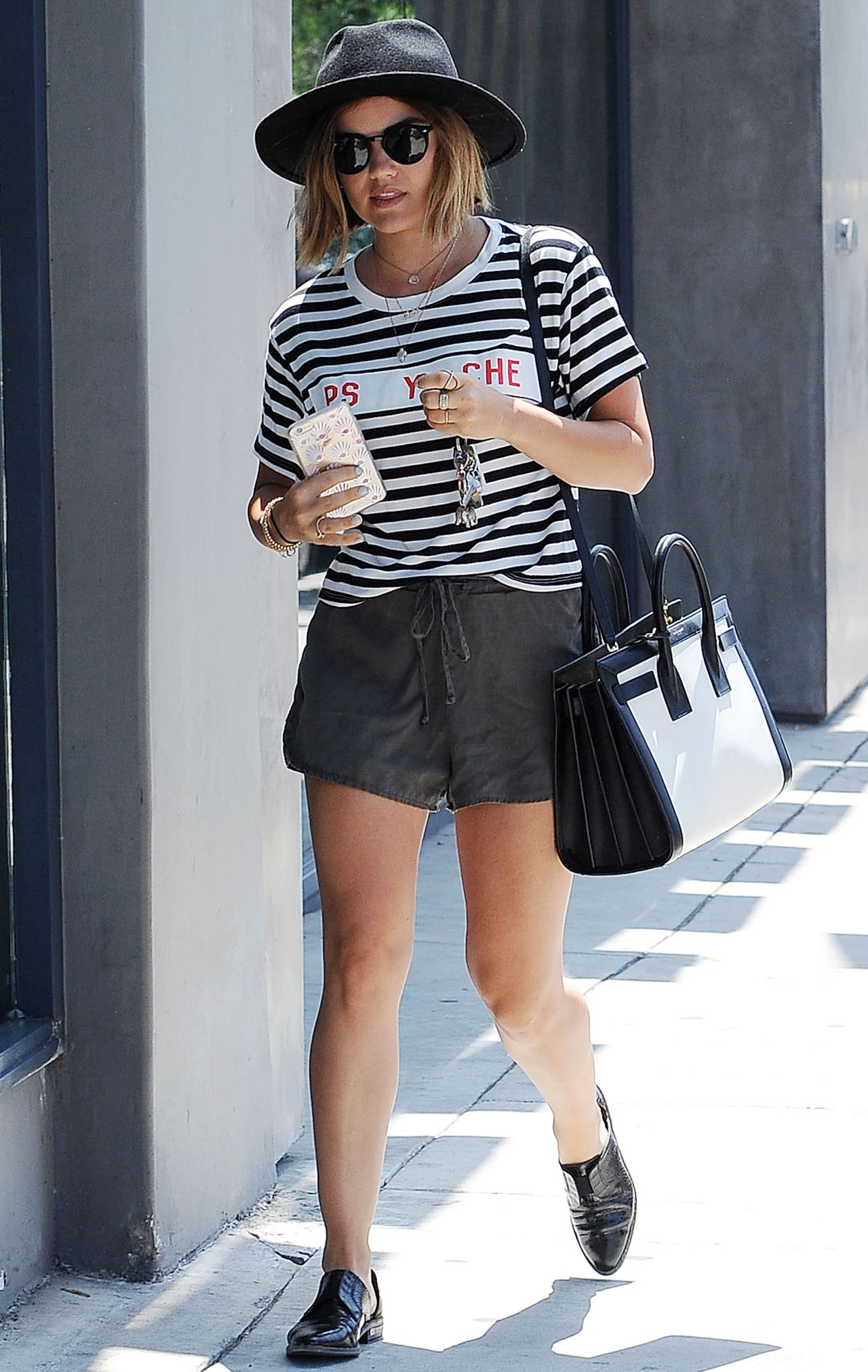 lucy hale summer style shopping in west hollywood july 2015
