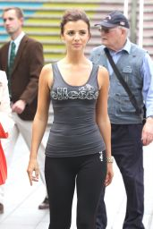 Lucy Mecklenburgh In Leggings - London, June 2015