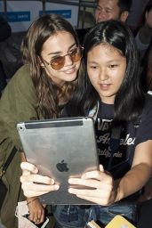 Maia Mitchell Airport Style - Narita International Airport, Japan, July 2015
