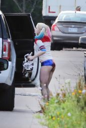 Margot Robbie - Suicide Squad Set in Toronto, July 2015