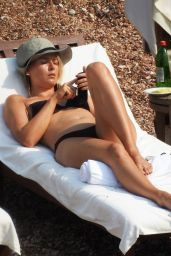 Maria Sharapova in a Bikini at a Beach in St. Stephens Island, Montenegro, July 2015