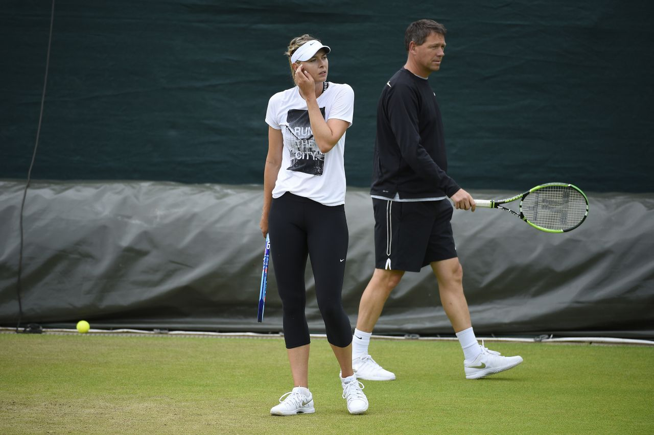 Maria Sharapova – Practice at Wimbledon Tennis Championships 2015 in London