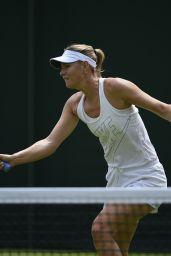 Maria Sharapova - Practice at Wimbledon Tennis Championships 2015 in London