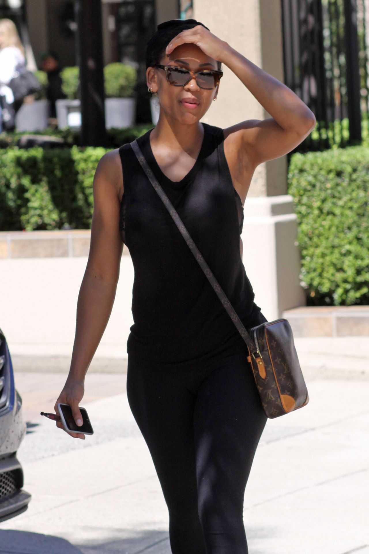 Meagan Good Street Style Out In Vancouver July 2015