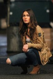Megan Fox - On set of Teenage Mutant Ninja Turtles 2 in New York City, July 2015