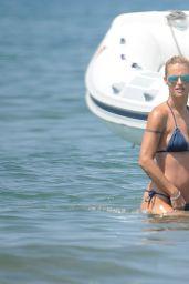 Michelle Hunziker & daughter Aurora Bikini Candids - at the Beach in Forte dei Marmi, July 2015